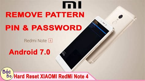 pattern pin or password how to remove pattern pin password lock xiaomi redmi