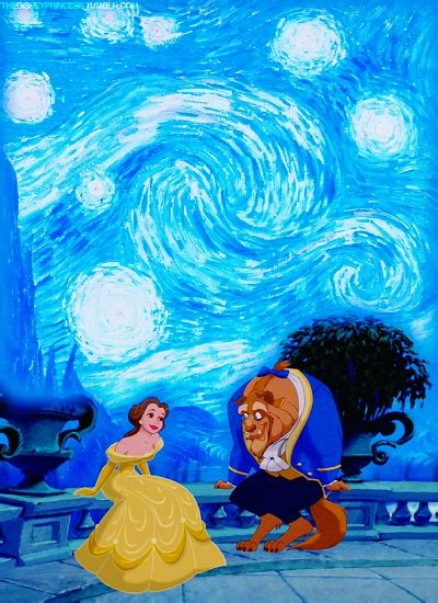 film disney princess manusia beauty and the beast the starry night awesome