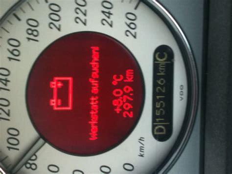 werkstatt auf suchen batterieanzeige in rot quot werkstatt aufsuchen quot die kann