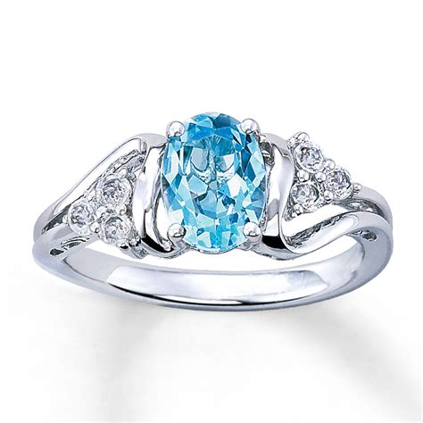 topaz ring oval cut sterling silver