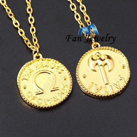 18k gold plating sided percy jackson c half blood the heroes of olympus ivlivs coin
