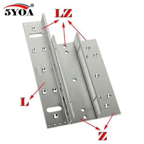 Enigma Electromagnetic Lz Bracket Bracket Only 180 280 350 500kg z l bracket magnetic electromagnetic lock lz 350lbs inward door with wooden