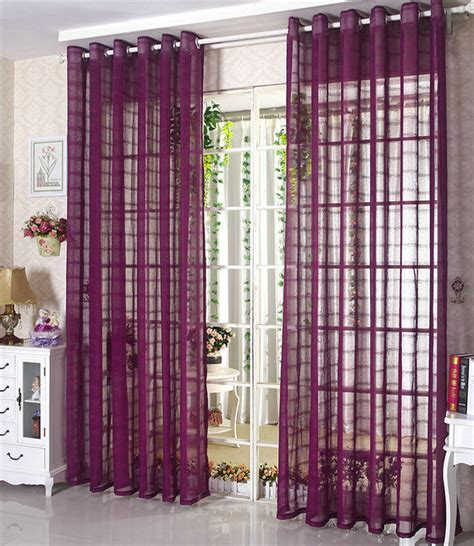 living room panel curtains aliexpress buy linen tulle sheer voile curtains window panel drapes for living room
