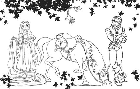 October 2011 Tangled Princess Coloring Pages