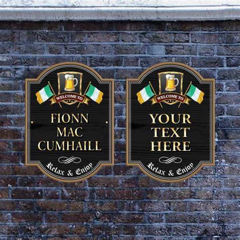 Home Bar Signs Jaf Graphics Home Bar Sign Flag Of Ireland