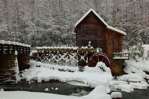 file wv gristmill bridge creek winter snow pub west