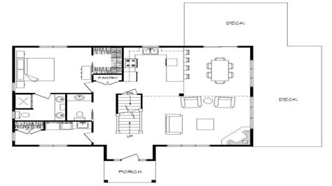 one story house plans with walkout basement log home plans with open floor plans log home plans with