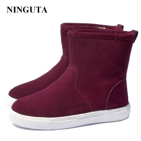 Genuine Leather Ankle Snow Boots 2016 sale boots genuine leather ankle suede snow