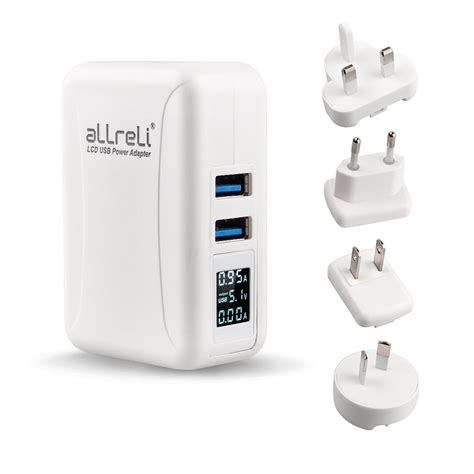 in wall usb charger allreli 24w 4 8a dual usb wall charger kit