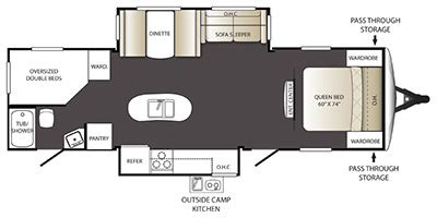 outback cers floor plans 2014 keystone rv outback terrain series m 299 tbh specs