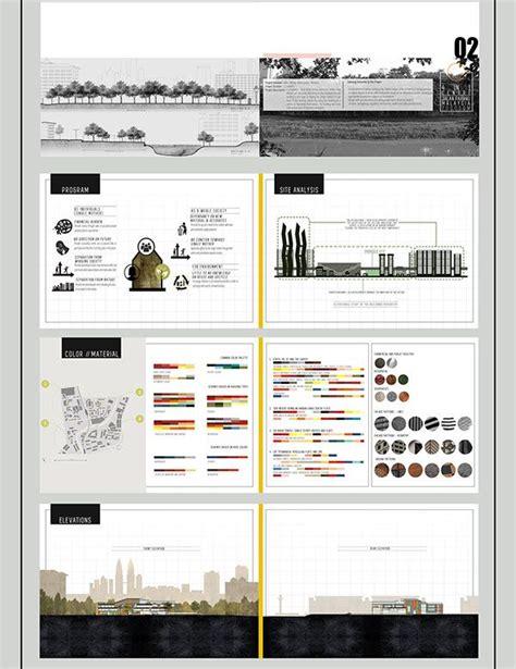 portfolio layout size behance architecture undergraduate portfolio on behance