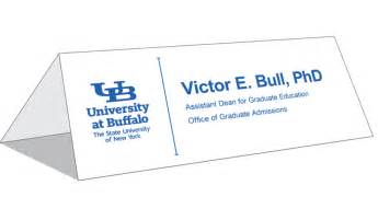 table tent cards identity and brand university at buffalo