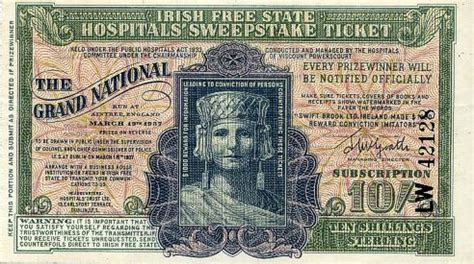 Irish Hospitals Sweepstakes - irish free state hospitals sweepstake ticket ireland 1937