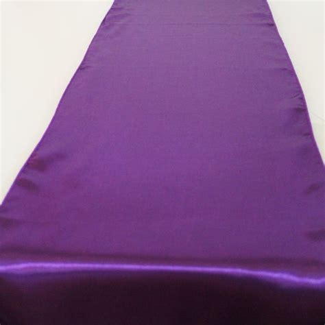 Purple Table Runners by Purple Satin Table Runner Wedding Decorations Afloral