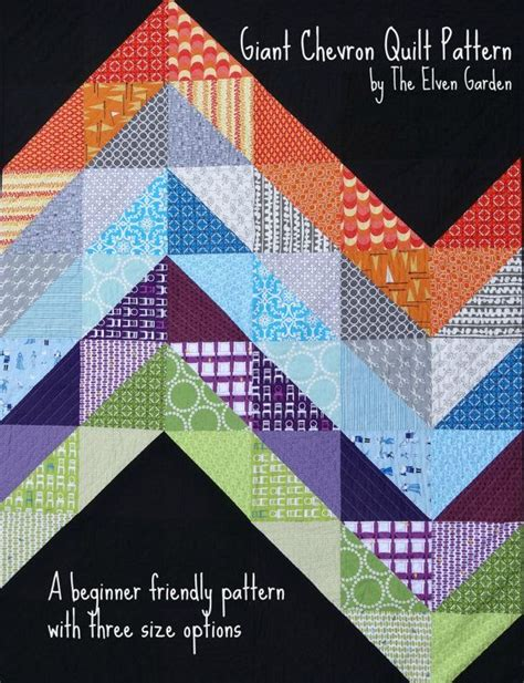 Size Chevron Quilt Pattern by Chevron Quilt Pattern Baby And Size Options