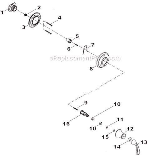 kohler shower parts diagram kohler k t10360 4 parts list and diagram