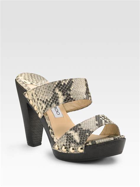 jimmy choo platform sandals jimmy choo ulrika platform sandals in beige lyst