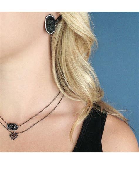Elisa Black elisa pendant necklace in black layering comes naturally