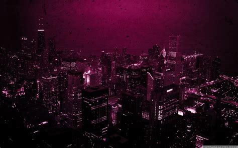 purple city ultra hd desktop background wallpaper