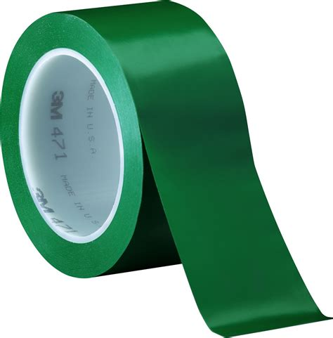 Scotch Transparent 1 2in X 300in 3m 471 green vinyl 2 in quot x 36 yd