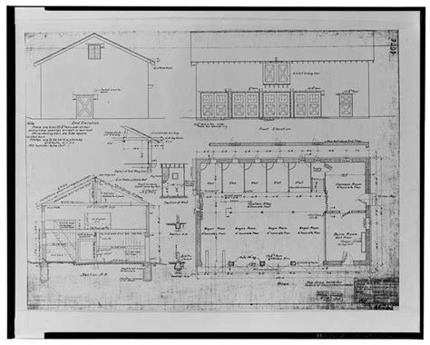anémone césar 13 plan elevations and sections of stable santa ana no