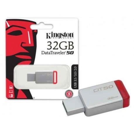 Kingston Datatraveler 50 Usb 3 1 32gb Dt50 32gbfr Berkualitas 1 memoria usb flash kingston datatraveler 50 dt50 32gb 32gb