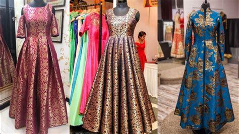 Lomgdress Brocade beautiful brocade indian dresses designs ideas