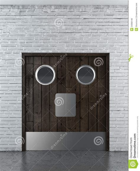 wooden swing doors wooden swing doors royalty free stock images image 34990149