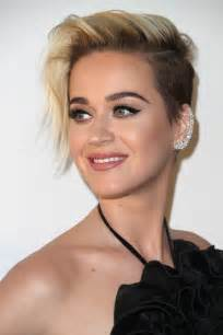 short hair katy perry short side part short hairstyles lookbook