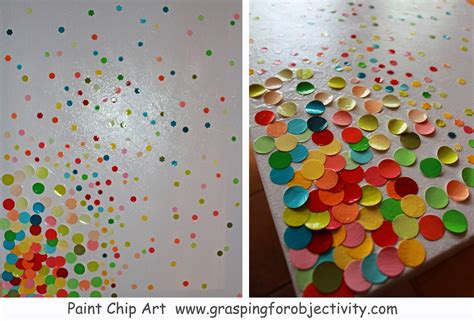 painted projects paint chip art grasping for objectivity
