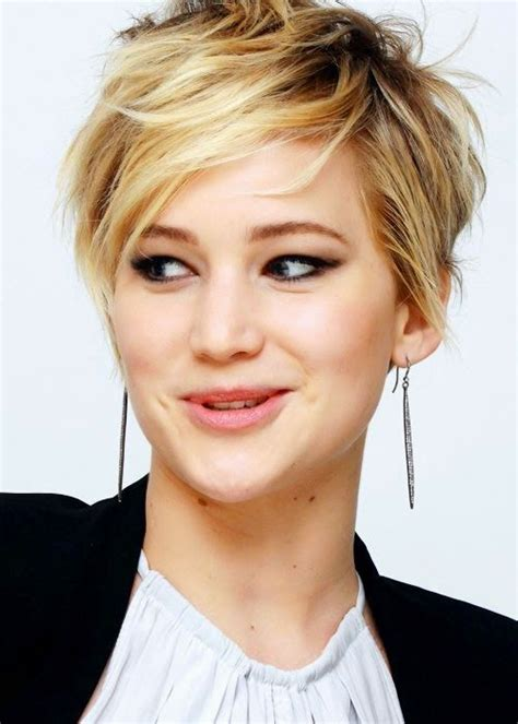 short haircuts seen on pinterest jennifer lawrence s messy pixie see more http www