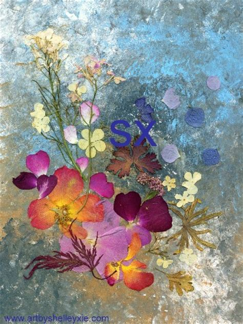 the flowers art and art by shelley xie pressed flower art and beyond