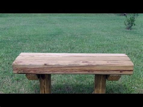 build  wooden bench   youtube
