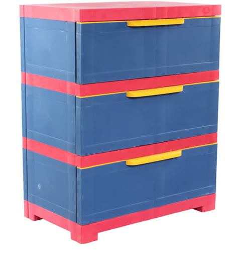 Nilkamal Kitchen Cabinets kids freedom chester 13 with three drawers in pepsi blue
