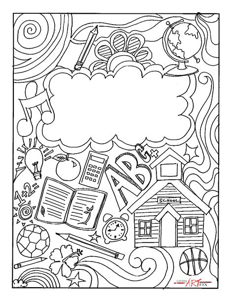 coloring page book cover music binder cover coloring page binder cover printable