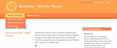 Moodle Theme Horizontal Menu | how to add a horizontal navigation menu in moodle 2 0