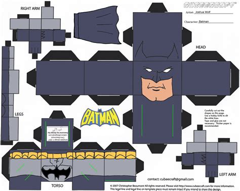 Papercraft Batman - superheroes papercraft bat fan diaries
