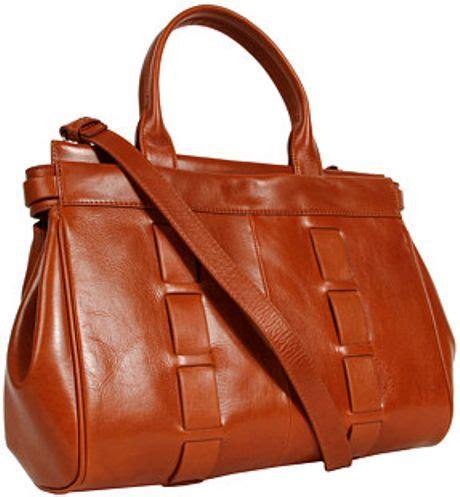 New Fendi Calista 3in1 Leather badgley mischka calista satchel in brown cognac lyst