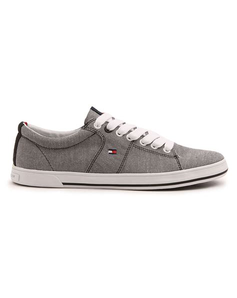 hilfiger harry grey canvas sneakers in gray for