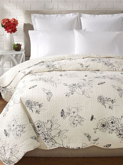 french country toile bedding dandridge black toile full queen quilt french country