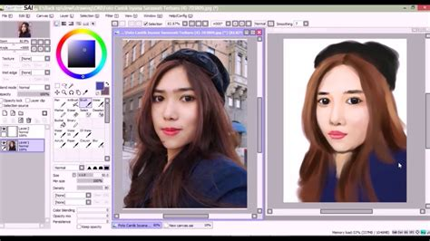 tutorial photoshop pemula sai mahir digital painting tutorial isyana paint tool sai youtube