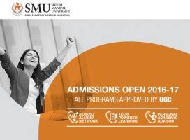 Ksou Mba Admission 2016 17 by Apply New Admission For Mba Bca Mca Mscit In Smu 2016
