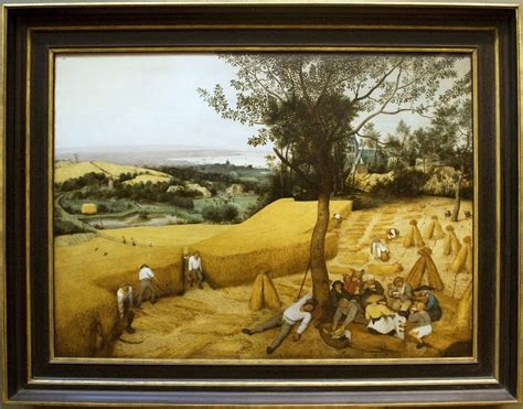 framing a picture file the harvesters painting by brugel with frame jpg