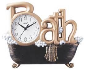 Decorative Wall Clock Gold Novelty Bath Wall Clock Modern Clocks By Bellacor