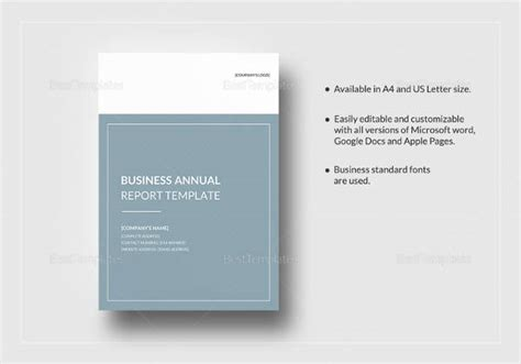 Annual Report Templates For Mac Sle Annual Report 15 Documents In Pdf