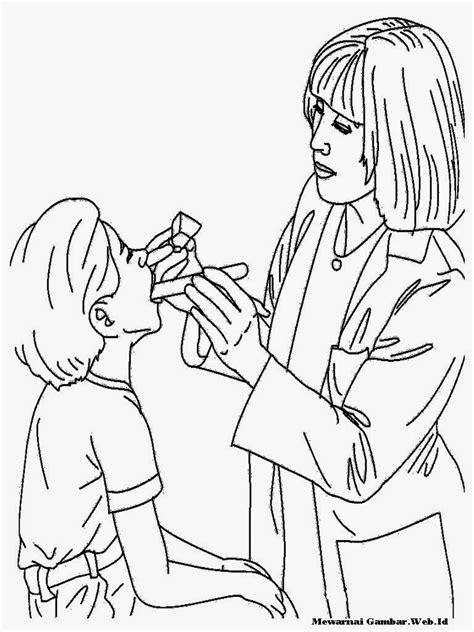 Mewarnai Gambar Perawat | Mewarnai Gambar