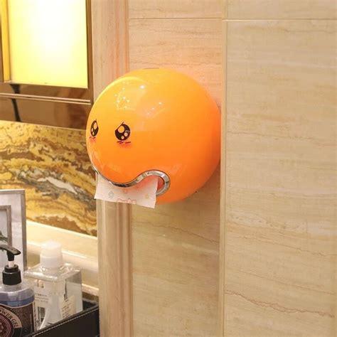 smiley waterproof tissue roll holder
