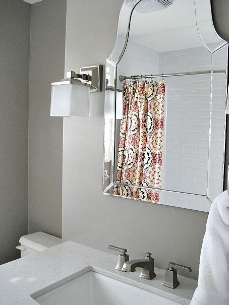 mirror bathroom and sconces on