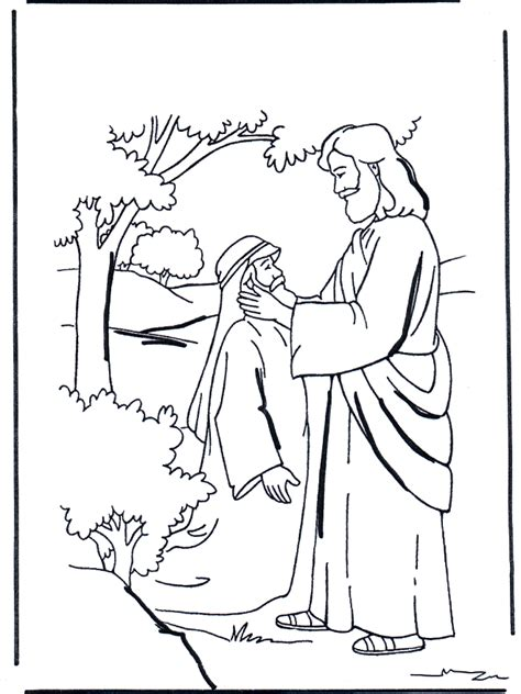 coloring page jesus heals deaf jesus heals the blind coloring page az coloring pages