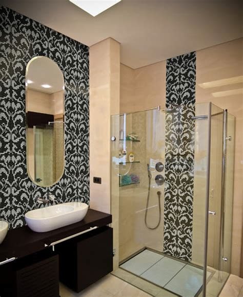 Black And White Damask Bathroom Ideas 27 Black Damask Bathroom Tiles Ideas And Pictures